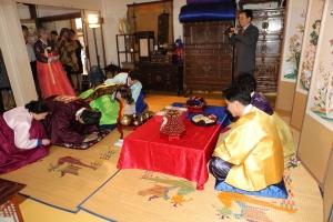 Pyebaek bowing